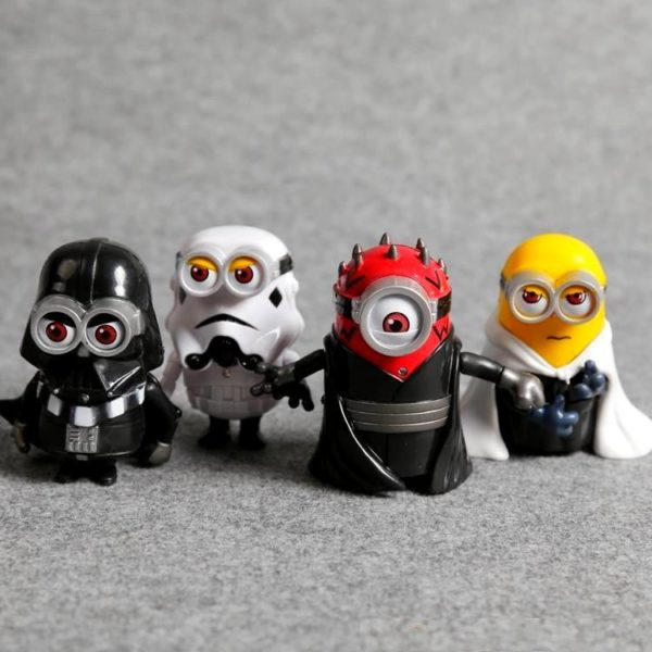 HTB1SesxKXXXXXapXFXXq6xXFXXXz 80b45bb4 778a 4f00 9648 58bcdaf4511b 1 Lot De 4 Figurines Minion Version Star Wars - Livraison Gratuite !