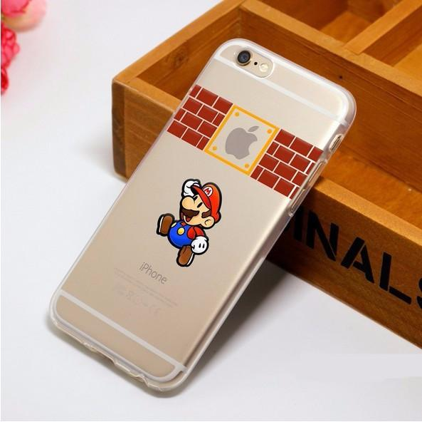 HTB1UcSgMVXXXXbJXXXXq6xXFXXXa 0a7139b7 9f58 4b41 ba97 7bb6fd230275 Coque Super Mario Bros. En Plastique Transparent Pour Iphone - Livraison Gratuite !