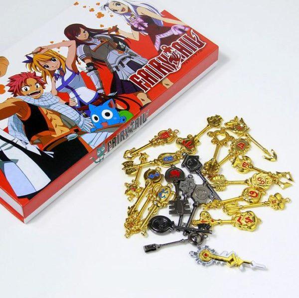 Coffret Collector Trousseau De 22 Clés Lucy Fairy Tail - Livraison Gratuite !
