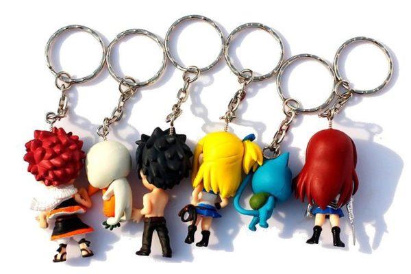 1 Lot De 6 Portes-Clés Fairy Tail - Livraison Gratuite !