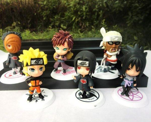 HTB1Z6fKLXXXXXaqXXXXq6xXFXXXk ef488403 1554 4557 9efb 7828fe71d7f9 1 Lot De 6 Mignons Figurines Naruto - Livraison Gratuite !