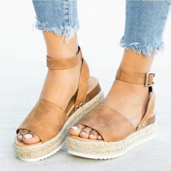 Sandales Plateforme Effet Corde Minute Mode