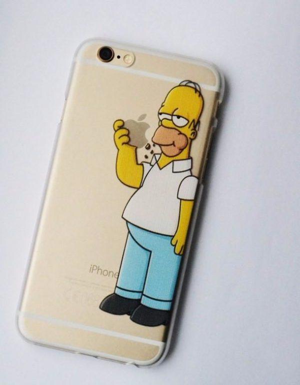 HTB1fRWENpXXXXbqaXXXq6xXFXXXG eb18fab8 c493 4ef1 b955 00ff56af0e50 Coque Homer Les Simpson En Plastique Transparent Pour Iphone - Livraison Gratuite !