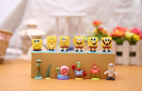 HTB1ggkoIpXXXXc8XFXXq6xXFXXX5 76bd0f1a a7af 4953 aac8 292b1cbd9193 1 Lot De 12 Figurines Bob L'éponge - Livraison Gratuite !