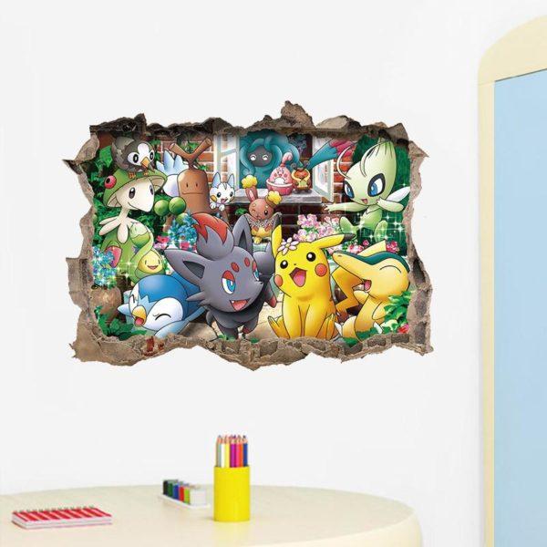 Stickers Muraux Pokémon Go - Livraison Gratuite !