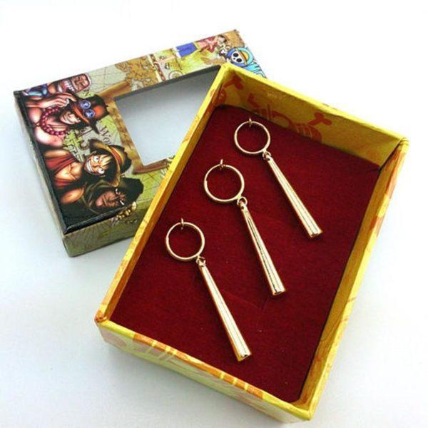 Lot De 3 Boucles D'oreilles Pendantes Roronoa Zoro One Piece - Livraison Gratuite !