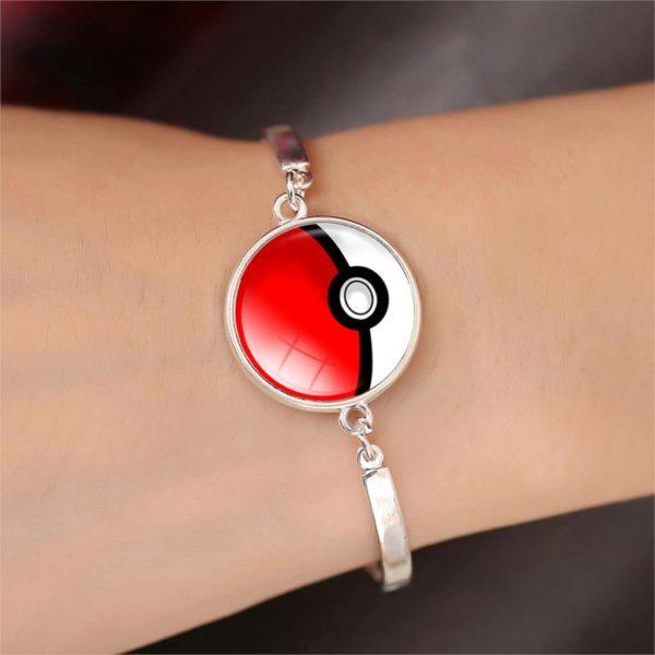 Bracelet Pokémon Pokeball Verre Cabochon - Livraison Gratuite !