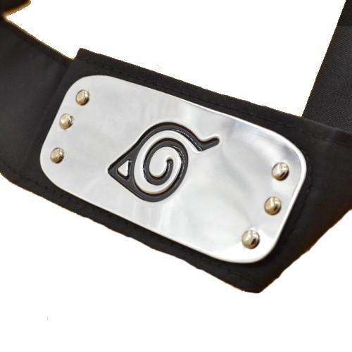 Bandeau Noir Konoha Symbole Cosplay Naruto - Livraison Gratuite !