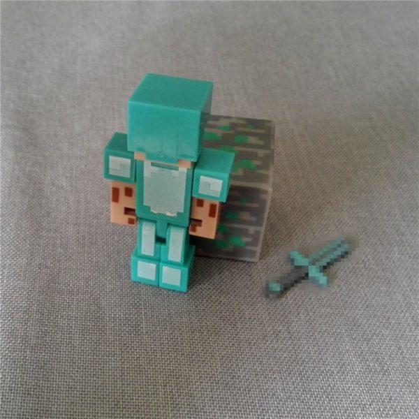 HTB1m3M3MVXXXXa0aXXXq6xXFXXXN 0e1b9e83 1570 4b40 8e0a 7a69f1f8b47b 1 Lot De 3 Figurines Minecraft Diamant (Steve Bloc Épée Pack Bloc ) - Livraison Gratuite !