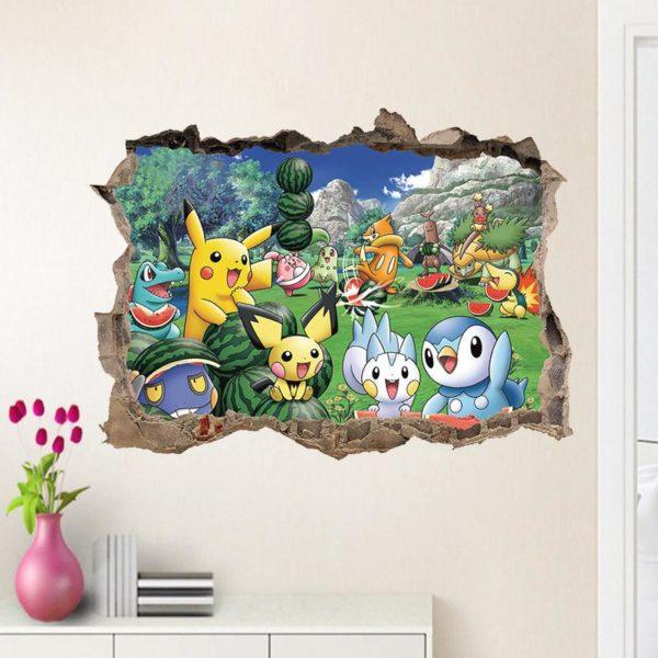 Sticker Mural Pokémon Go En 3D - Livraison Gratuite !