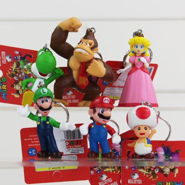 HTB1rElDJFXXXXaJXXXXq6xXFXXX2 892c00fc 41e6 4017 9cd0 3b8b173bec61 1 Lot De 5 Figurines Porte-Clés Super Mario Bros. - Livraison Gratuite !
