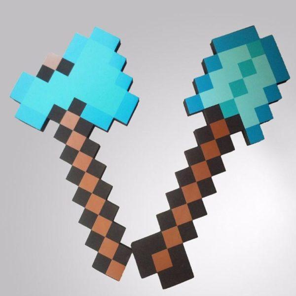 HTB1t8A5KVXXXXblXFXXq6xXFXXXd 9e059405 3e6b 4c19 9cbf 36a684ae075b 1 Lot De 2 Figurines Hache Et Flèche Minecraft - Livraison Gratuite !