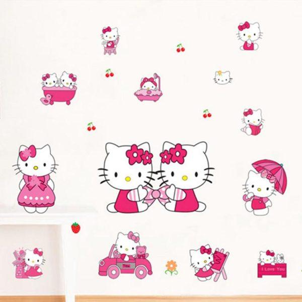 Sticker Mural Hello Kitty - Livraison Gratuite