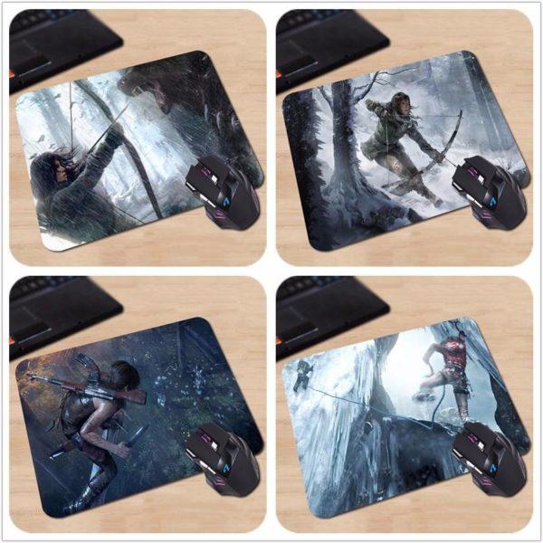 Tapis De Souris Lara Croft Tomb Raider (18X22 Cm) En Caoutchouc - Livraison Gratuite !