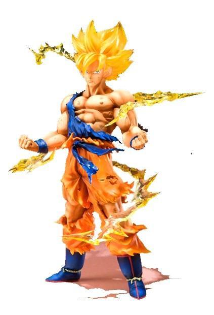 Figurine Super Saiyan San Goku (17Cm) Dragon Ball Z - Livraison Gratuite !