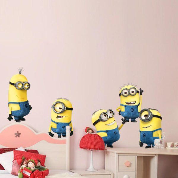 Sticker Mural Minions En 3D - Livraison Gratuite !