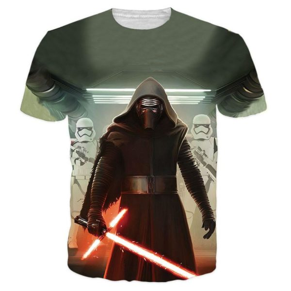 Hommes Star wars 3D T shirt Darth Vader Dirige Kylo Ren Top ccc67032 cb42 445e 97c3 0eee4fd6c5e3 T-Shirt Star Wars 3D Kylo Ren (4 Modèles) - Livraison Gratuite !