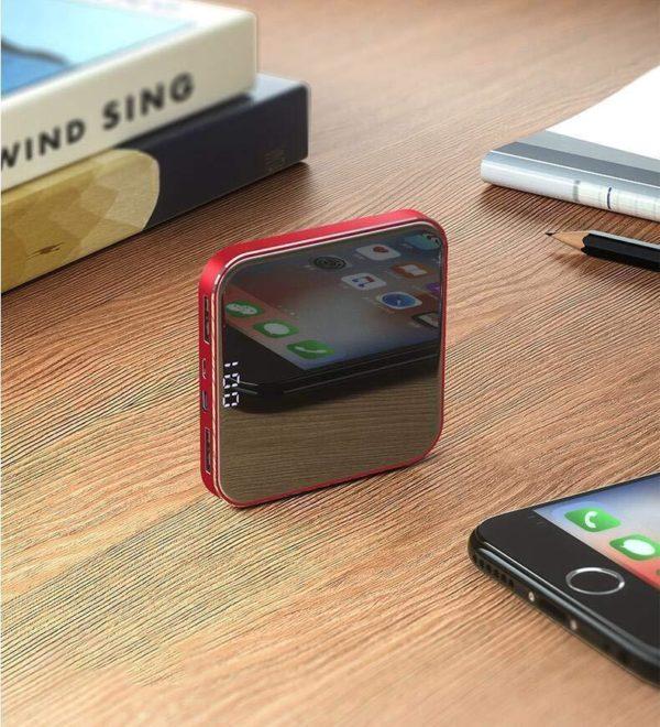 Batterie externe 8000mAh pour iPhone, Samsung Galaxy, etc. raton-malin Rouge