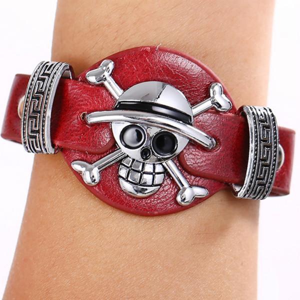 JM BIJOUX 6 pcs lot Cosplay One Piece Bracelet Anime Bracelets de Haute Qualite En Cuir Bracelet Cuir One Piece Cosplay (2 Couleurs) - Livraison Gratuite !