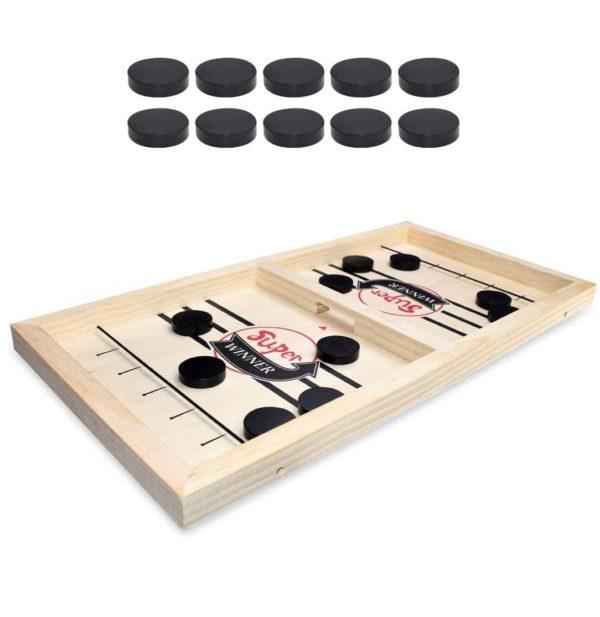 JeudeHockeyenBois 0ab91b04 bd3e 426d 9725 21af0a2c170d Table Air Hockey En Bois
