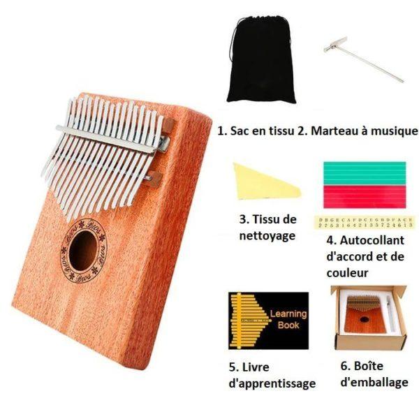 K13 Kalimba 17 Touches - Piano À Pouces En Bois D'acajou