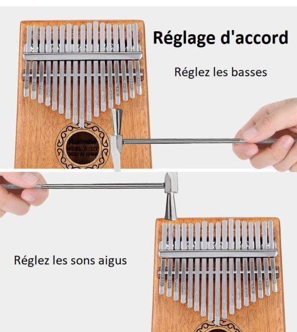 K16 Kalimba 17 Touches - Piano À Pouces En Bois D'acajou
