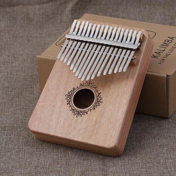 Un instrument absolument merveilleux -- Piano à Pouces Kalimba 17 touches En Bois d'Acajou Raton Malin Bois 1