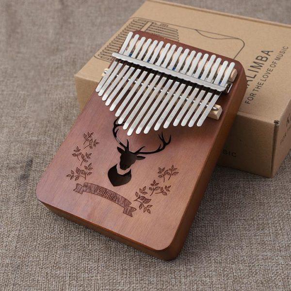 Un instrument absolument merveilleux -- Piano à Pouces Kalimba 17 touches En Bois d'Acajou Raton Malin Rétro 2