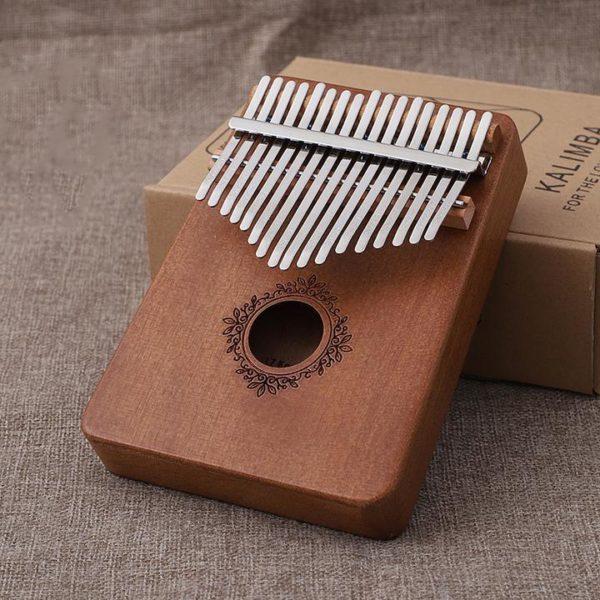 Un instrument absolument merveilleux -- Piano à Pouces Kalimba 17 touches En Bois d'Acajou Raton Malin Rétro 1