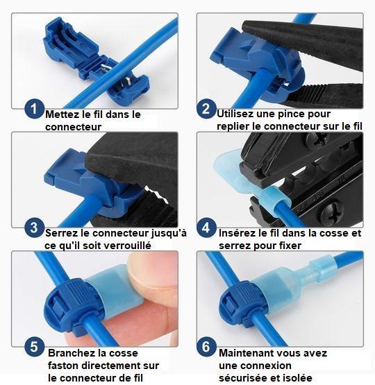 KIT4 Kit De Connecteurs De Fils T-Tap