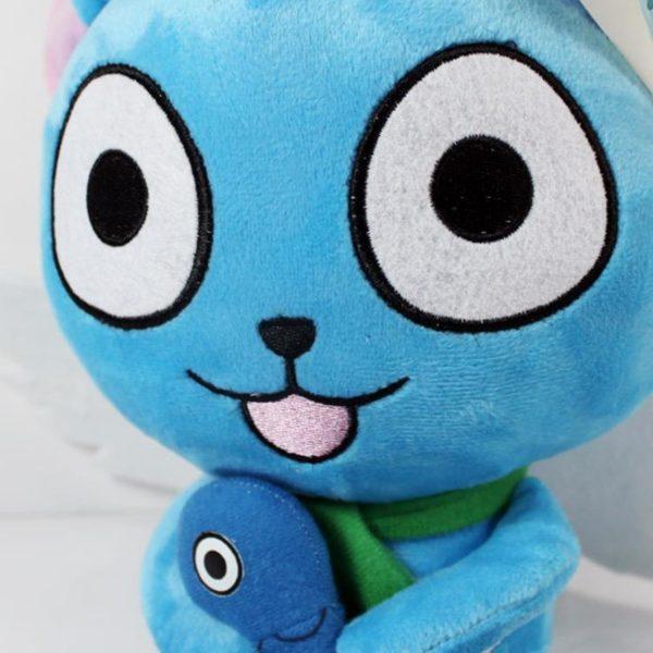 Kawaii Japonais Anime F eacute 1 Peluche Fairy Tail Happy Cat Avec Poisson - Livraison Gratuite !