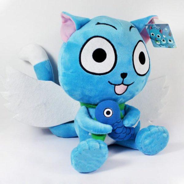 Kawaii Japonais Anime F eacute 46992bee e14a 40c2 b01c 3458447c4bb6 Peluche Fairy Tail Happy Cat Avec Poisson - Livraison Gratuite !