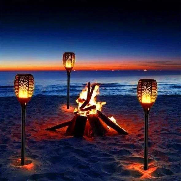 Lanterne Solaire Avec Flamme Vacillante raton-malin