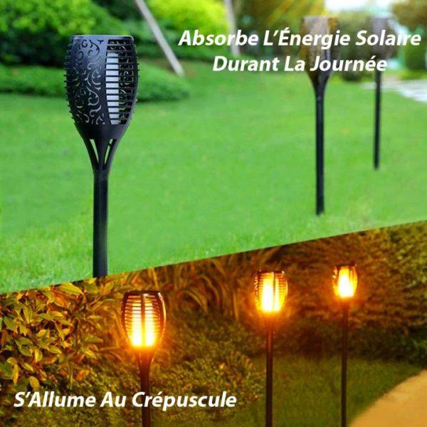 LFV 3 Lanterne Solaire Avec Flamme Vacillante