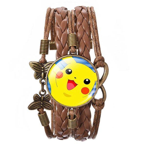 LIEBE ENGEL New Arrival Pokemon Bracelet Brown Leather With Glass Cabochon Pikachu Picture Bracelets Bangles 2016 0cfe5c17 97fc 4430 a66f 27991376ef46 Bracelet Wrap Pokémon Pikachu En Verre Cabochon Et En Cuir - Livraison Gratuite !
