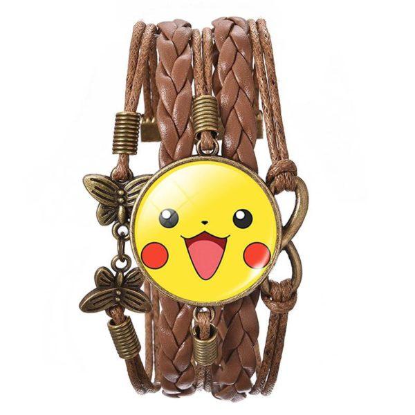 LIEBE ENGEL d8a5767e 0734 4c2e be39 7281e3da1cd2 Bracelet Wrap Pokémon Pikachu En Verre Cabochon Et En Cuir - Livraison Gratuite !