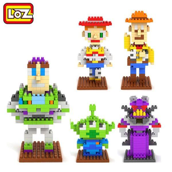 LOZ Toy Story Woody Buzz lightyear Jessie Jouet Mod egrave Figurine Lego Toy Story (5 Personnages) - Livraison Gratuite !