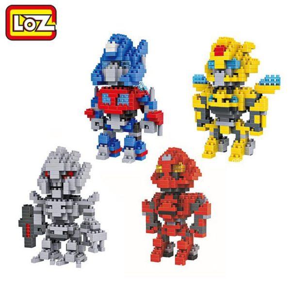 LOZ Transformation Robot Chiffres Jouets Optimus Prime Bumblebee Cadeau De Noel Diamant Blocs de Construction.jpg 640x640 591cf37f d097 429d 9156 3e8abfcfaf01 Figurine Lego Transformers Loz (4 Robots) - Livraison Gratuite !