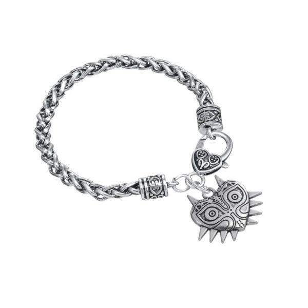 L eacute 6b1f57a7 2d98 4880 a186 fcbea59d9b4c Bracelet The Legend Of Zelda Majoras Mask En Argent Tibétain - Livraison Gratuite !