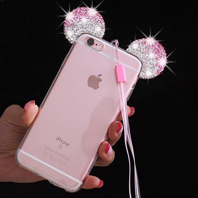 Luxueux 3D Diamant Minnie Mickey Mouse Cas Pour iPhone 6 6 S 6 Plus 6 S 1 8f7b5a76 a980 4e45 a751 3ad556f47fc8 Coque Mickey Minnie Mouse Oreille En Diamant Imitation (3 Couleurs) Pour Iphone - Livraison Gratuite !