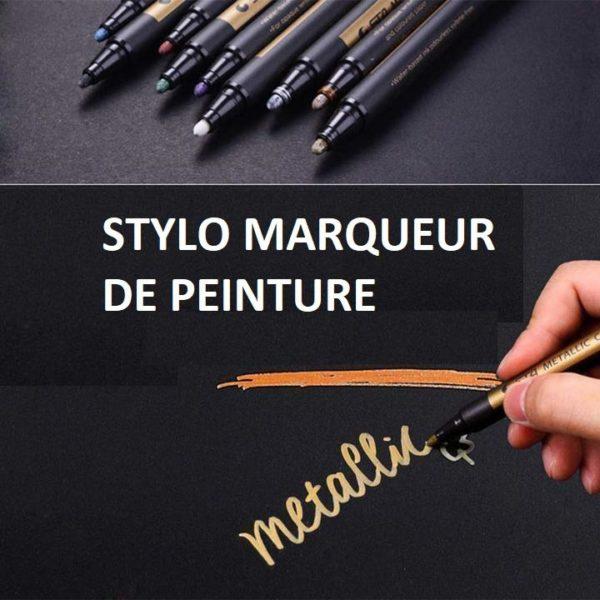 M4 0332bab8 9712 40c6 9202 076c1de25307 Stylo - Marqueur Peinture   Pierre - Verre - Corporelle - Sta™ (Lot De 10)
