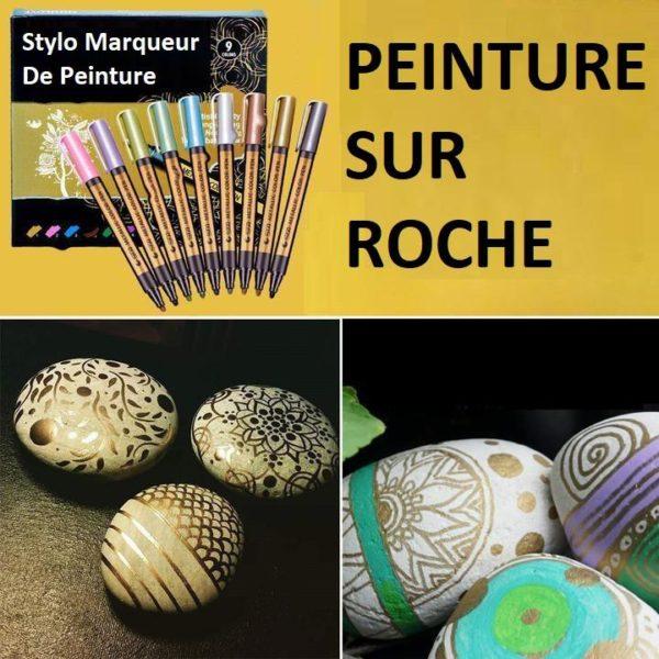 M6 9ff07a22 4c13 470d 801a d12e18668d0f Stylo - Marqueur Peinture   Pierre - Verre - Corporelle - Sta™ (Lot De 10)