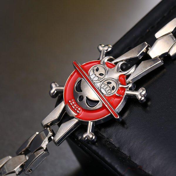 MOSU Chaude anime One Piece Argent Alliage Bracelet Ace Chapeau En M eacute Bracelet En Alliage Argent One Piece Cosplay - Livraison Gratuite !