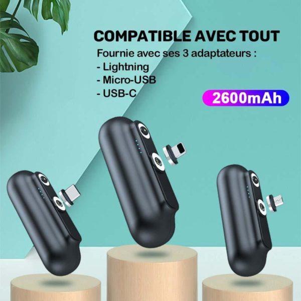 MiniChargeurMagnetiquePortable Mini Chargeur Magnétique Portable Boostcharge™