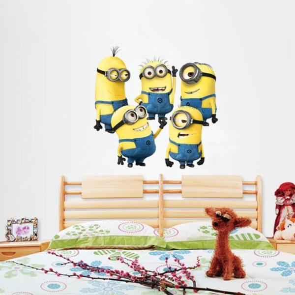 Minions film stickers muraux pour enfants chambre d eacute Stickers Muraux Minion 55X55 Cm - Livraison Gratuite !
