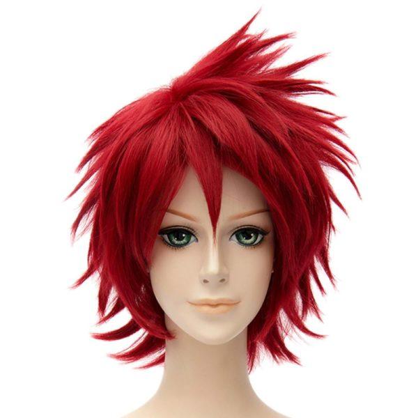 Naruto Sasori Rouge Courte Cosplay Droite Pleine Perruques Cosplay Costume R eacute Perruque Sasori Cosplay Naruto - Livraison Gratuite !