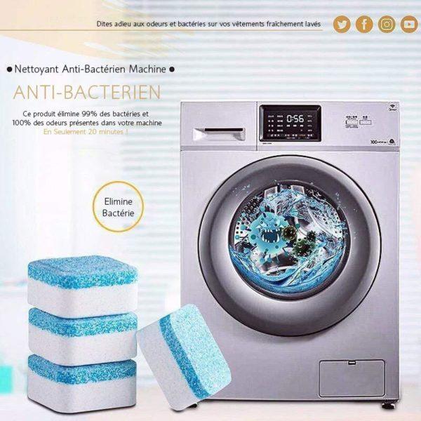 NettoyantpourMachineaLaver Les Pastilles Nettoyantes Anti-Bactériennes Pour Votre Lave-Linge