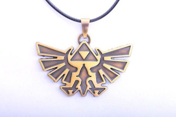 New Statement Necklace Anime Game The Legend of font b Zelda b font Necklace Rope Necklace Collier Insigne Zelda Dore - Livraison Gratuite !