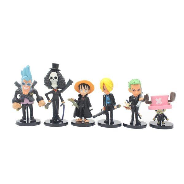 Noir version 8 CM 6 pcs ensemble One Piece Nouveau Monde Anime Figuarts SP Eacute 68ff282a e8e0 4415 89ac 3dbffcb766e5 1 Lot De 6 Figurines De L'équipage De Luffy D. Monkey One Piece - Livraison Gratuite