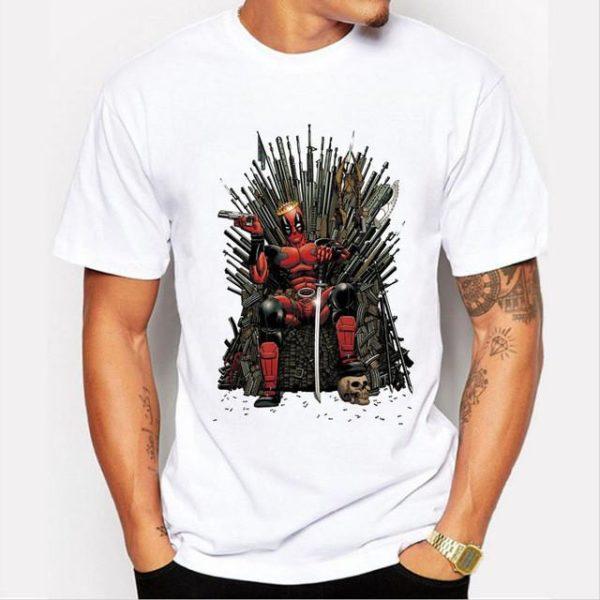 Nouveau Mode Deadpool sur le Trone de Fer T shirt Hommes Jeu de thrones T shirt.jpg 640x640 a7ac5ede 4b4a 4860 a56d b91e62bf4ca8 T-Shirt Deadpool Sur Trône De Fer - Livraison Gratuite !